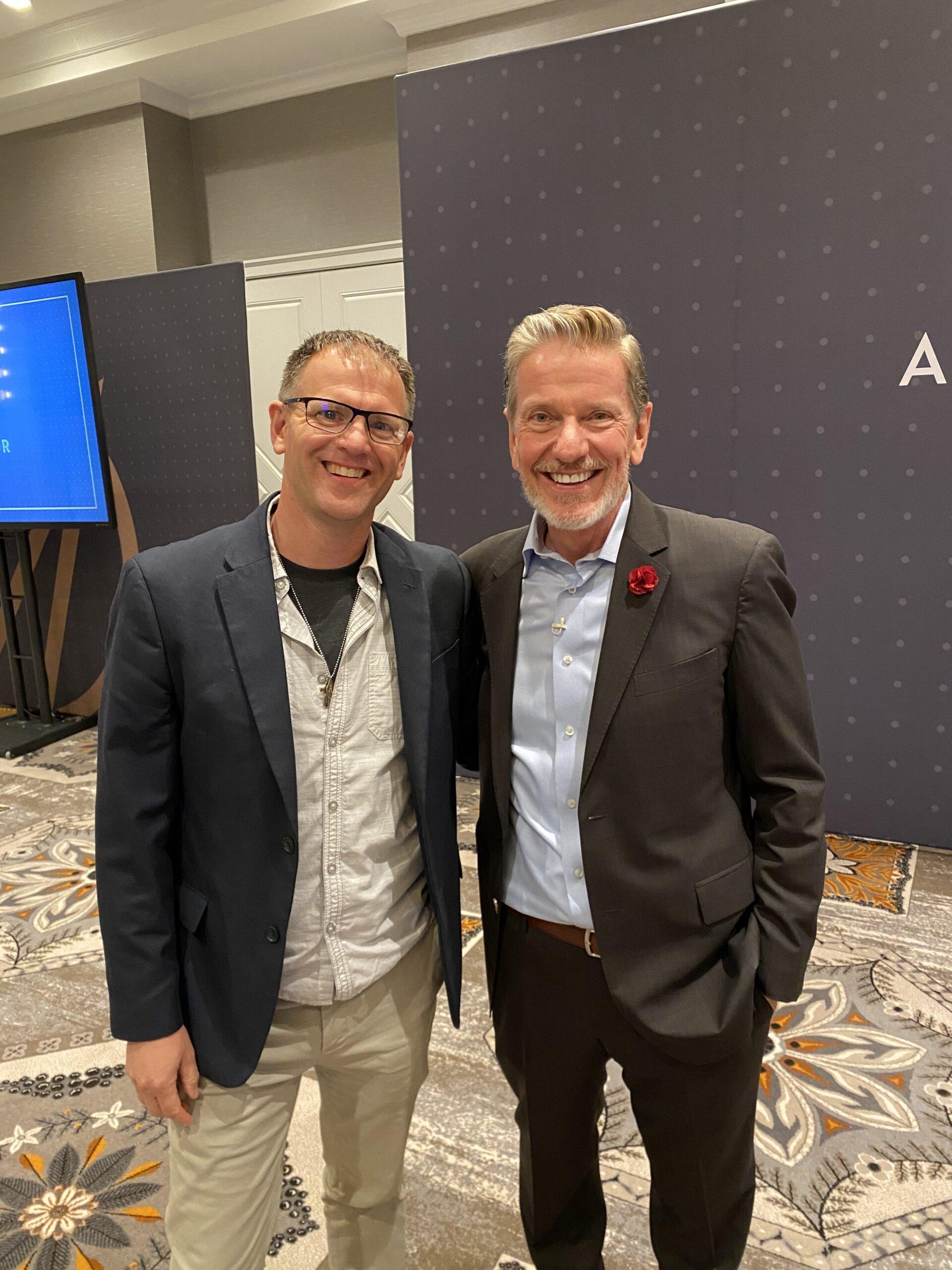 Dr Matthew Harkness with Michael Hyatt